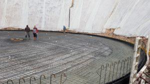 Realizzazione Pavimento industriale esterno in cemento armato idrorepellente Bortolotto Roberto_ Vasca di raccoglimento acque piovane