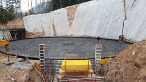 Realizzazione Pavimentazione Industriale Esterna ad alte prestazioni in cemento armato Bortolotto Roberto_ Vasca di raccoglimento acque piovane