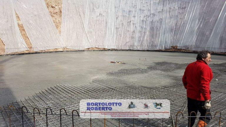 Pavimento Industriale in Calcestruzzo Armato ad Altissime Prestazioni Realizzazione Bortolotto Roberto - Vasca Raccoglimento Acque Piovane