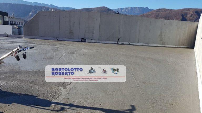 Pavimento Industriale elicotterato in calcestruzzo Realizazione Bortolotto Roberto