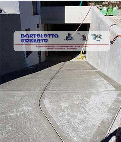 Rampa antiscivolo garage in calcestruzzo Bortolotto Roberto