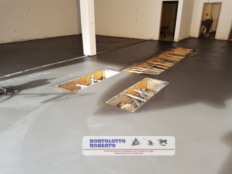 pavimento in cemento garage