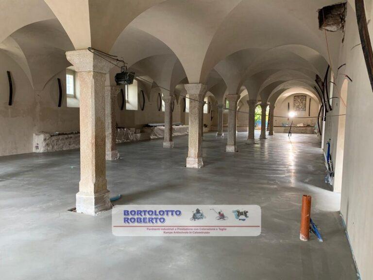 pavimento industriale realizzazione per cantina