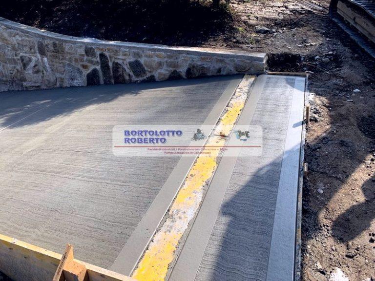 realizzazione rampe pavimenti in cemento e cls esterne ed interne