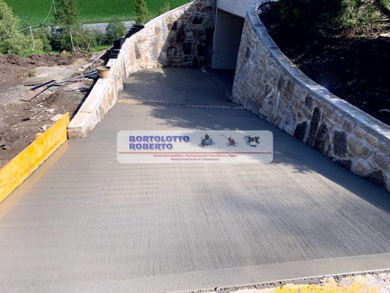 realizzazione rampe antiscivolo in cemento bortolotto